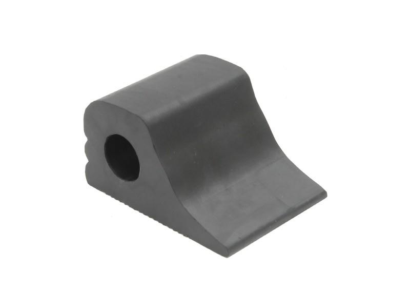 small moulded rubber wheel chock